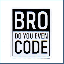 Adesivo Bro, do you even code