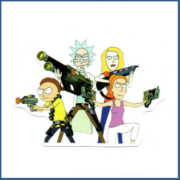 Adesivo Rick e Morty - Personagens do Cartoon 3