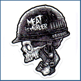 "Adesivo ""Meat is murder"""