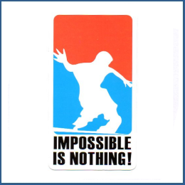 "Adesivo ""impossible is nothing"""