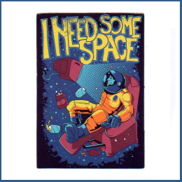 "Adesivo ""I need some space"""