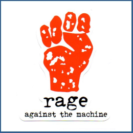 Adesivo Rage Against the Machine - Model 2