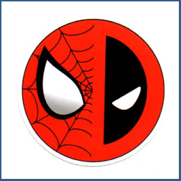 Adesivo Spiderman Deadpool -Ball