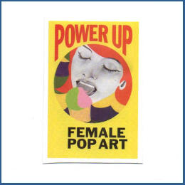 Adesivo Power Up - Female Pop Art