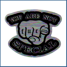 Adesivo metálico - You are not Special
